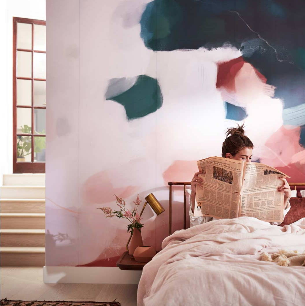 Parima Studio x Minted wall murals, large scale art bedroom art