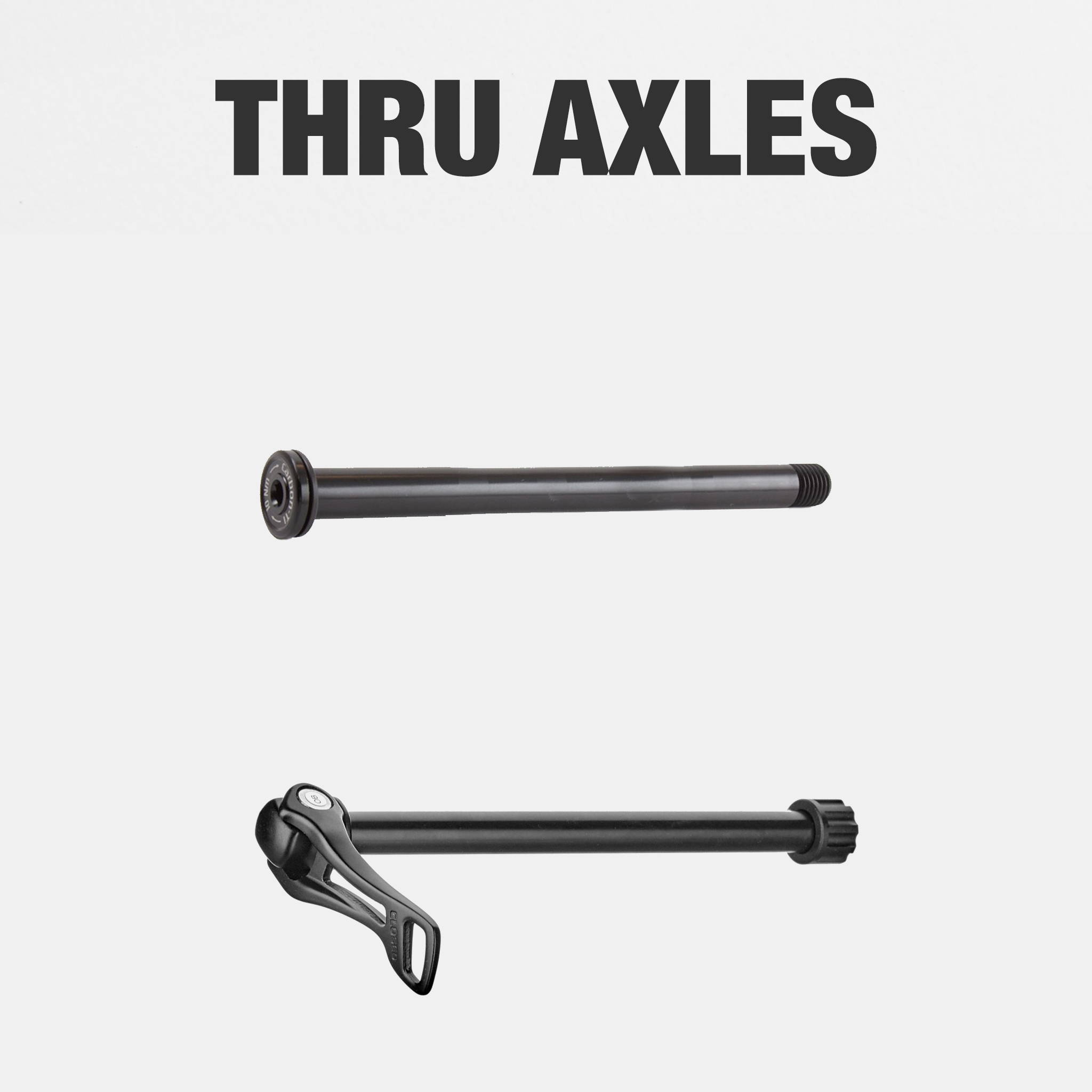 Different types of Thru axles