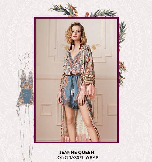 Jeanne Queen Long Tassel Wrap