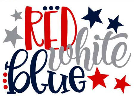 red white and blue 4th of july quote