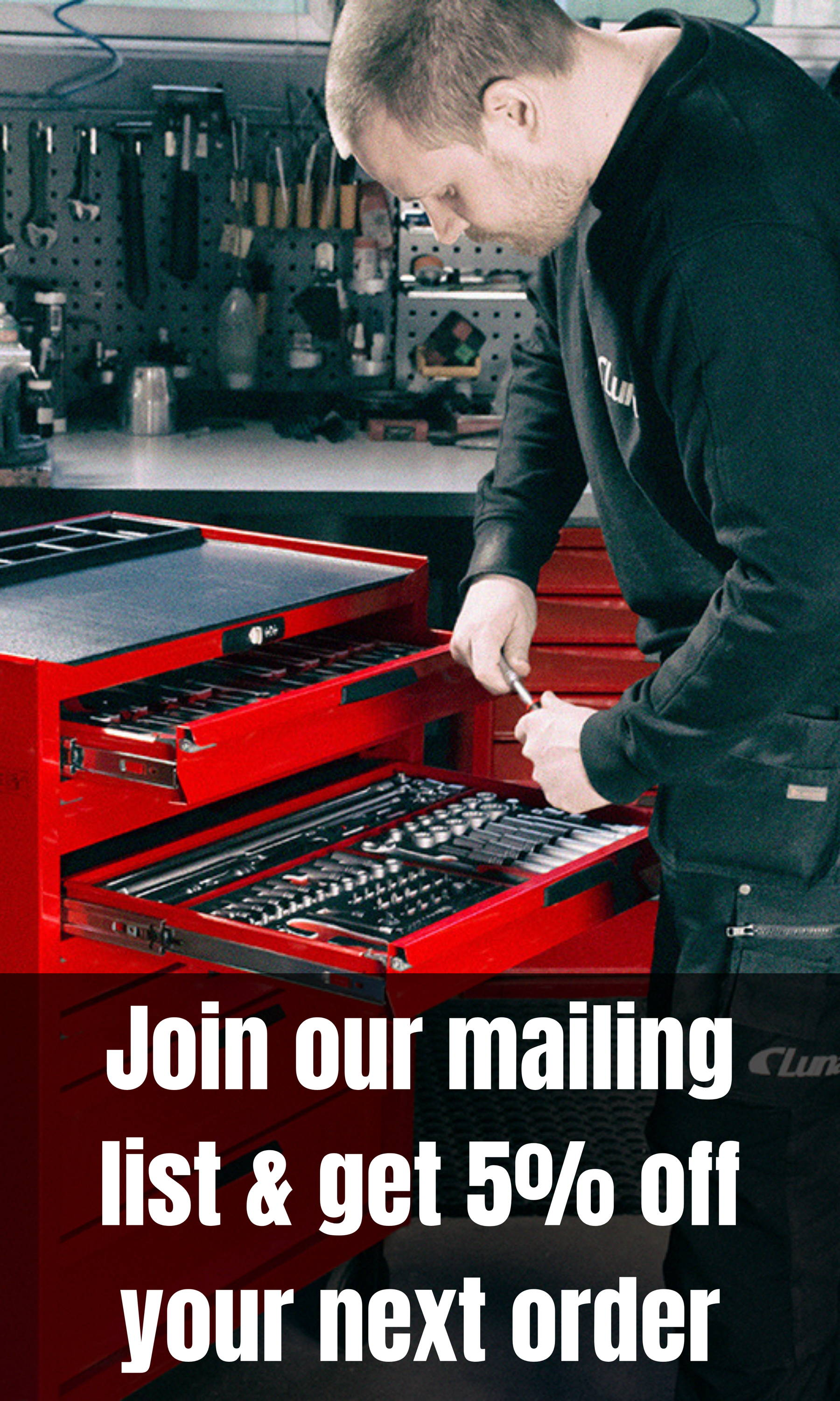 Join our mailing list and get 5% off your next order