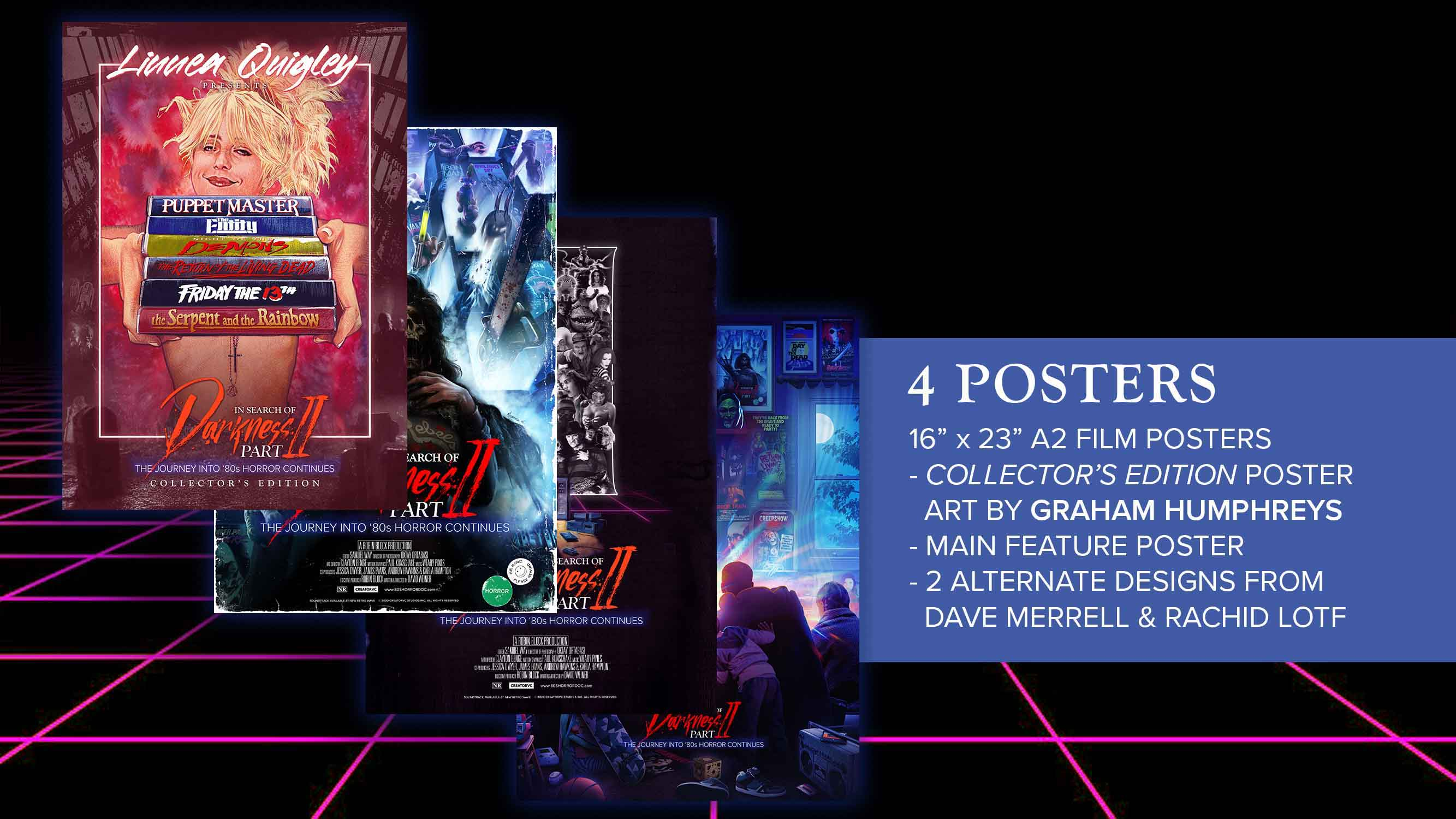 In Search of Darkness Part II, Linnea Quigley Collector's Edition poster package