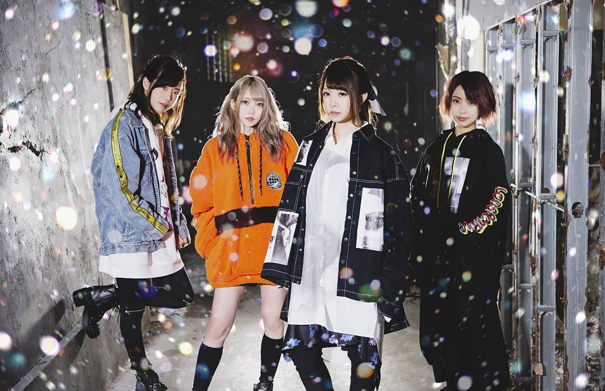 ELFRIEDE band pic. Left to right: Rina, Ryo, Mikuru, Yu-yan.