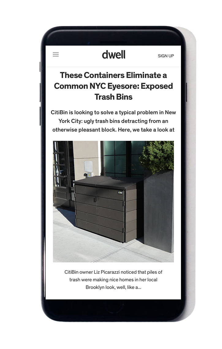 citibin trash enclosure dwell magazine
