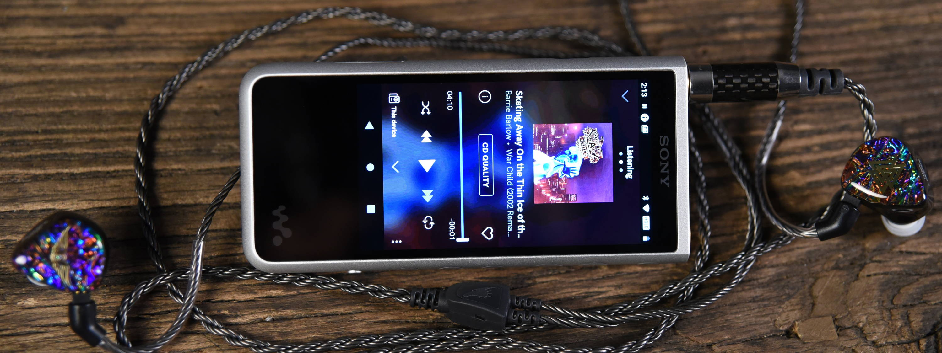Sony NW-ZX507 Walkman with Silver Dragon IEM cable and Empire Ears Valkyrie MK-II IEMs
