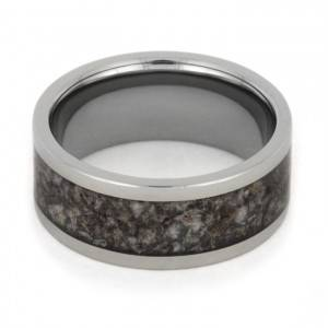 Titanium Crushed Antler Ring View 2
