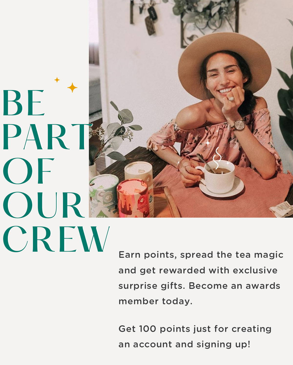 Be a part of the Tea Drops crew