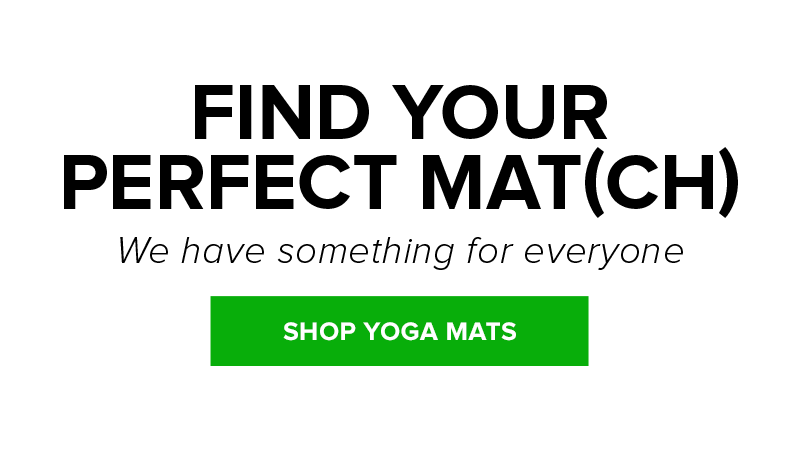Shop yoga mats in a variety of colors, prints and sizes