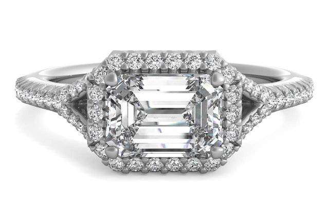 Diamond East to West Engagement Ring