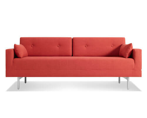 Blu Dot One Night Stand Sofa in Craig Red