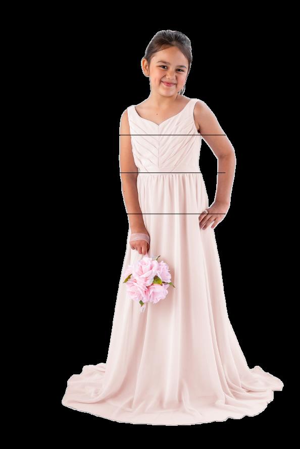Junior Bridesmaid Sizing Visual