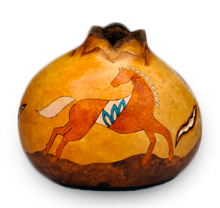 Gourd Art with Southwest Horse by Christy Barajas