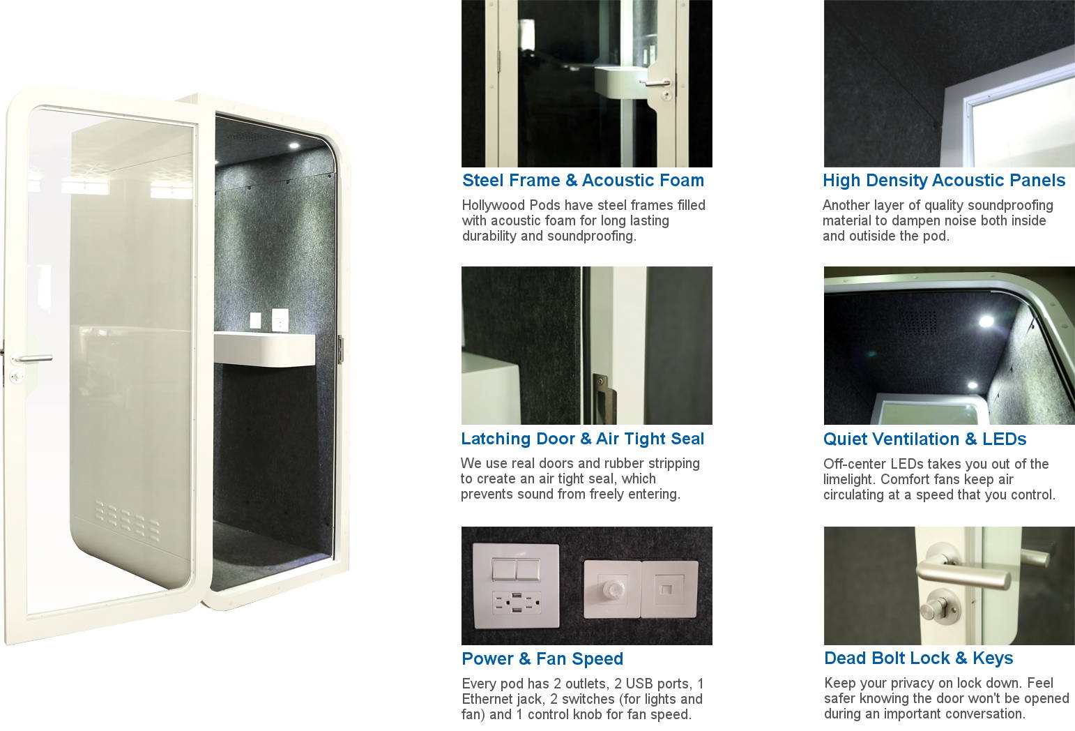 soundproof office pod booth