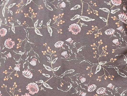 This is J Emmy Flower charcoal grey bamboo fabric.