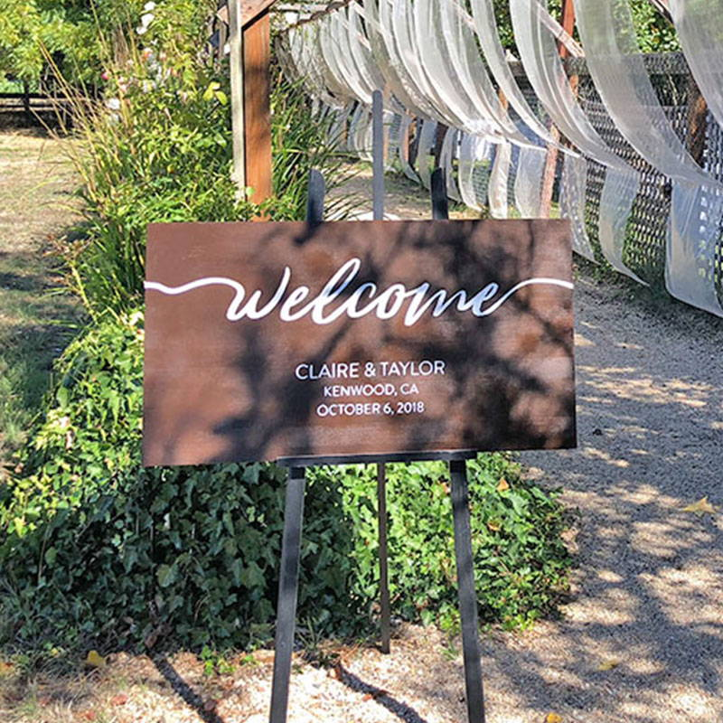 Wedding Planning Wood Sign Painting