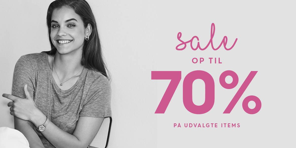 Sale - op til 70% på udvalgte items