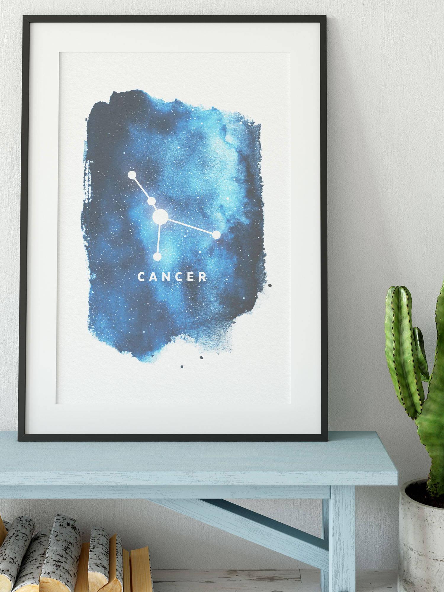 cancer zodiac sign art print