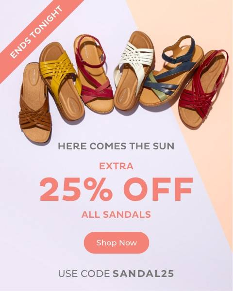 Extra 25% off Sandals