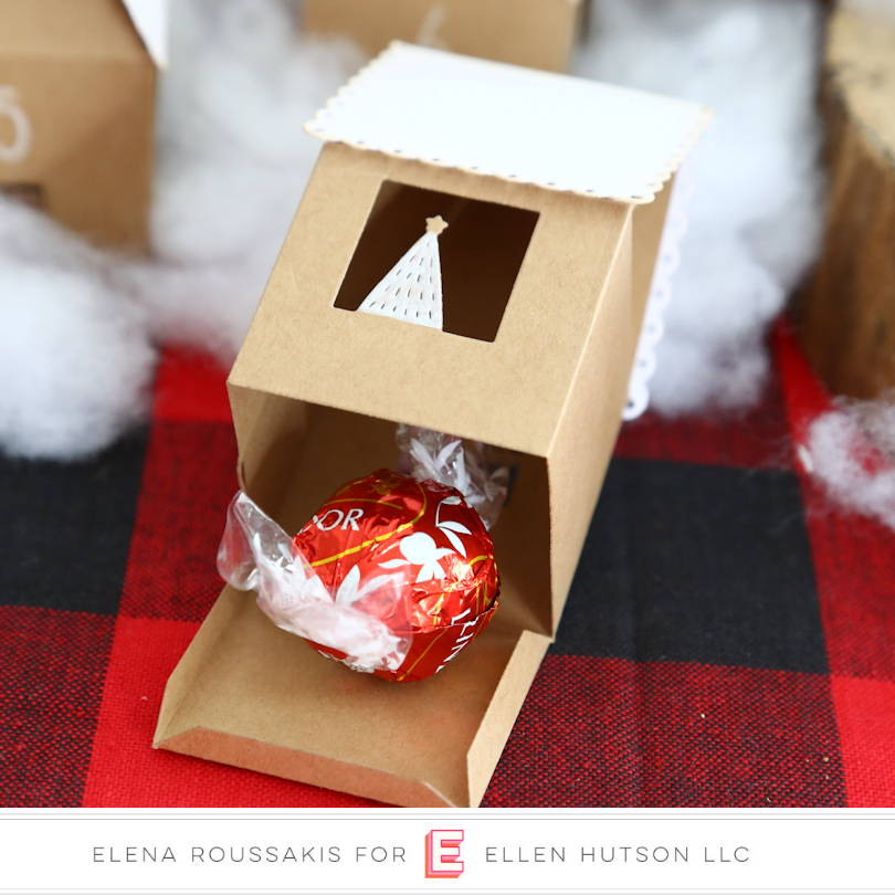 DIY Advent Houses with Essentials by Ellen House Box die with candy