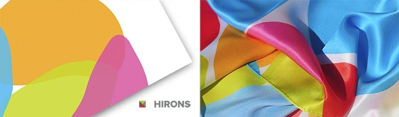 Corporate custom scarves - Silk satin - Oblong