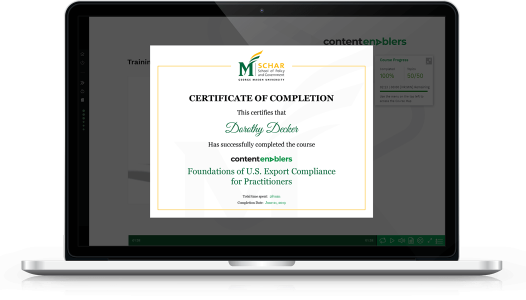 Image of the Content Enablers and George Mason University Certificate