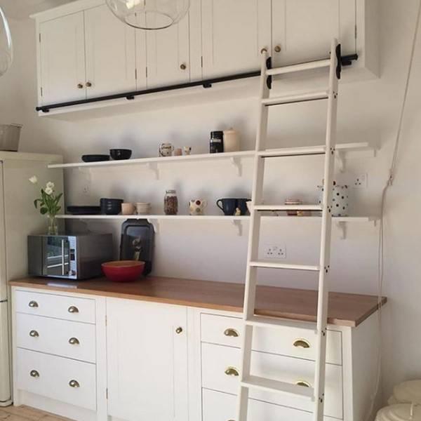 Kitchen hook over ladder