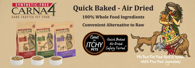 carna4 quick baked air dried dog food collection
