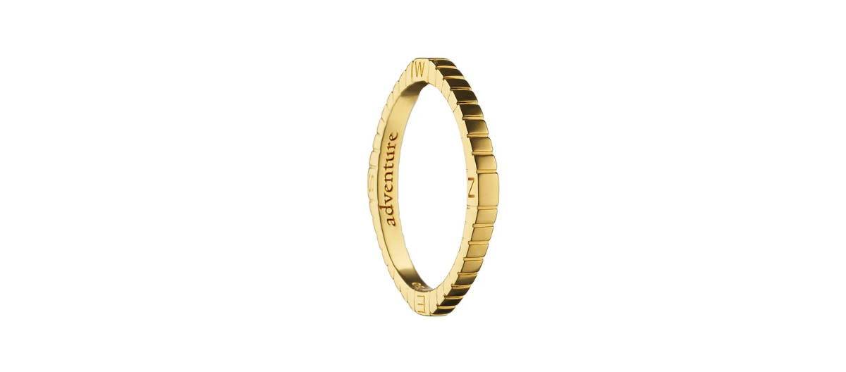 18k ring engraved with adventure