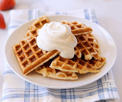 cinnamon muffin melt waffles