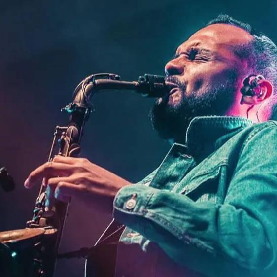 SAXOPHONIST Lito Hernandez playing an alto saxophone