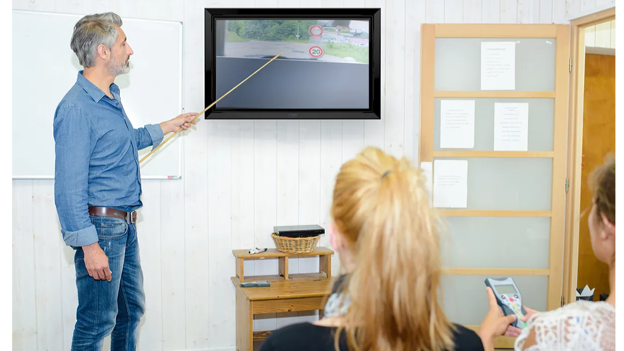 TV and digital display enclosure for schools - The TV Shield PRO Lite