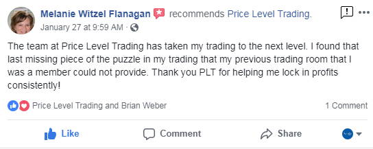 Price Level Trading review from Melanie.