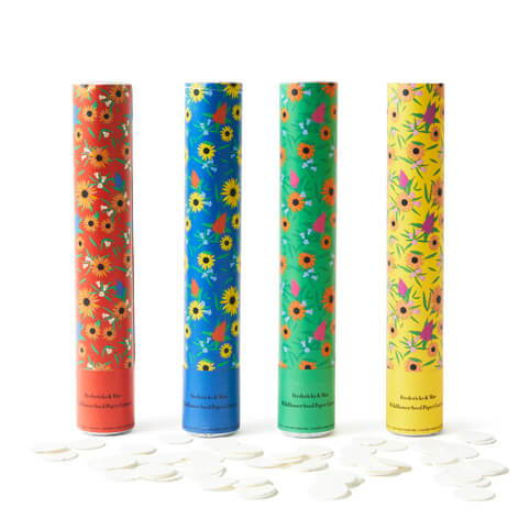 Fredericks & Mae Wildflower Seeds Paper Cannon Set