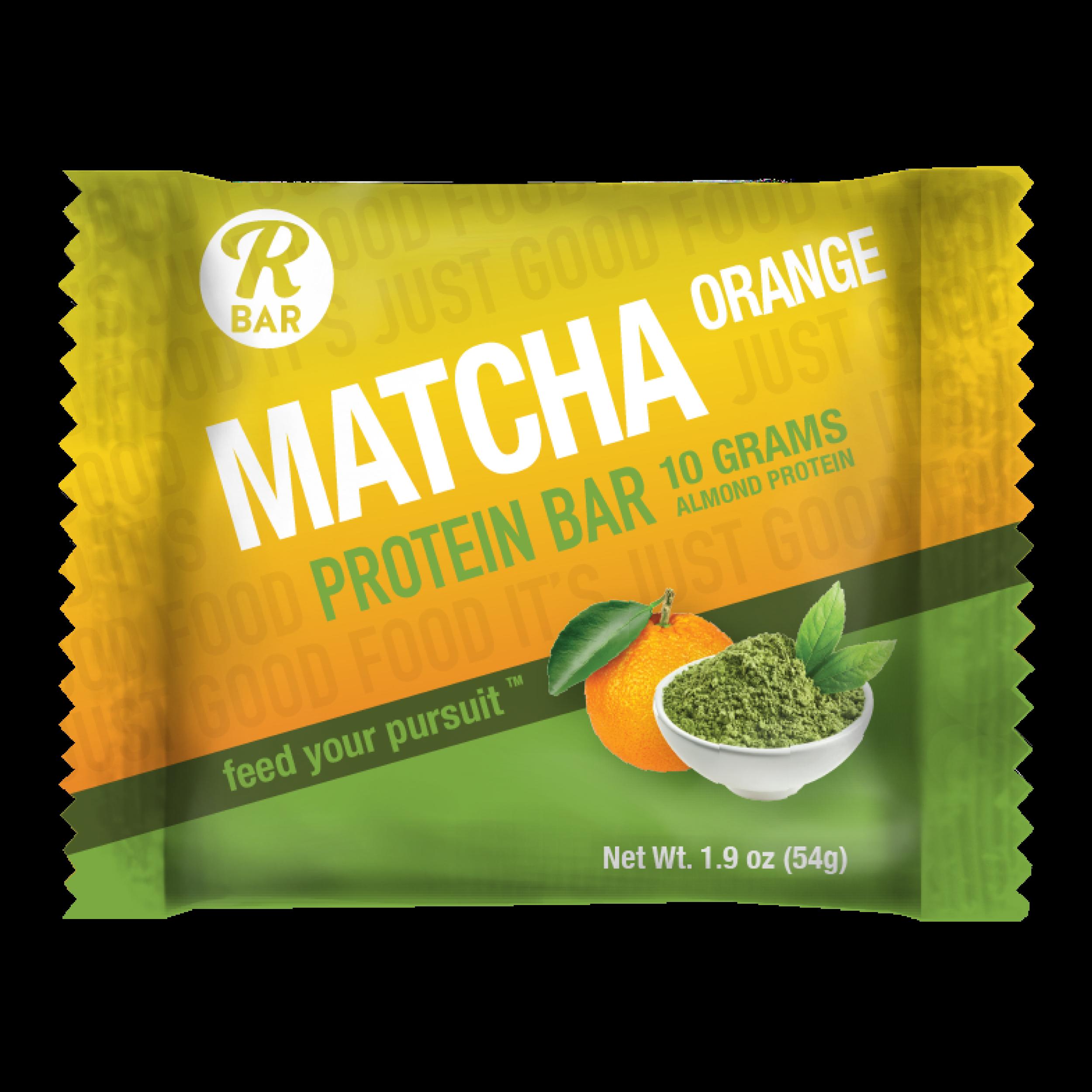Matcha Orange Protein Bar