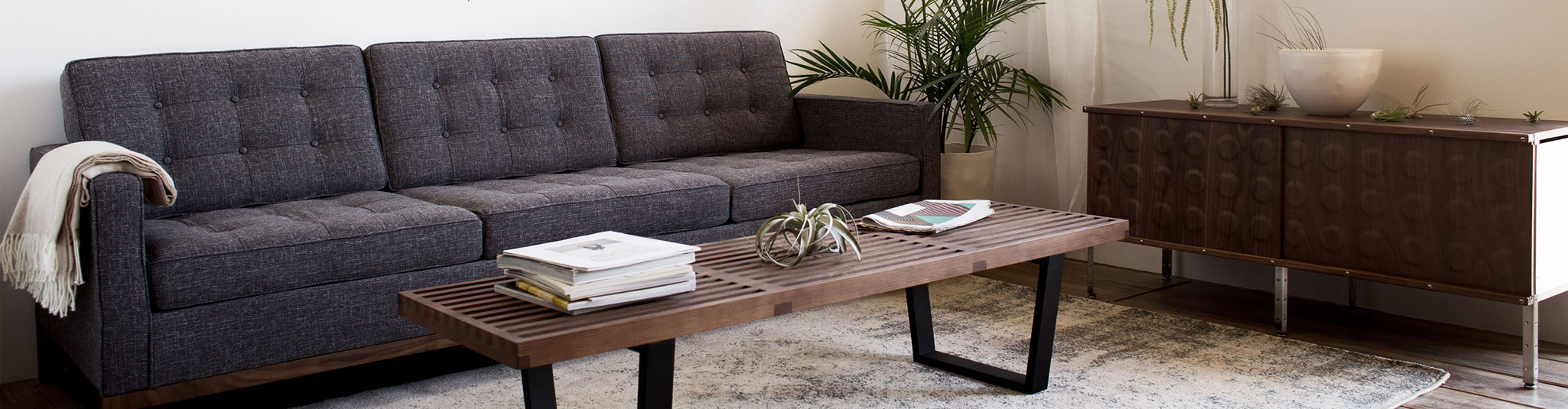 Modern furniture and lighting Mirrored Furniture Midcentury Modern Furniture Rentals Are Scarce And Expensive Weve Decided To Change That Now Not Only Are All Of Our Thoughtfully Curated Design Chaplins Rentals France And Son France Son