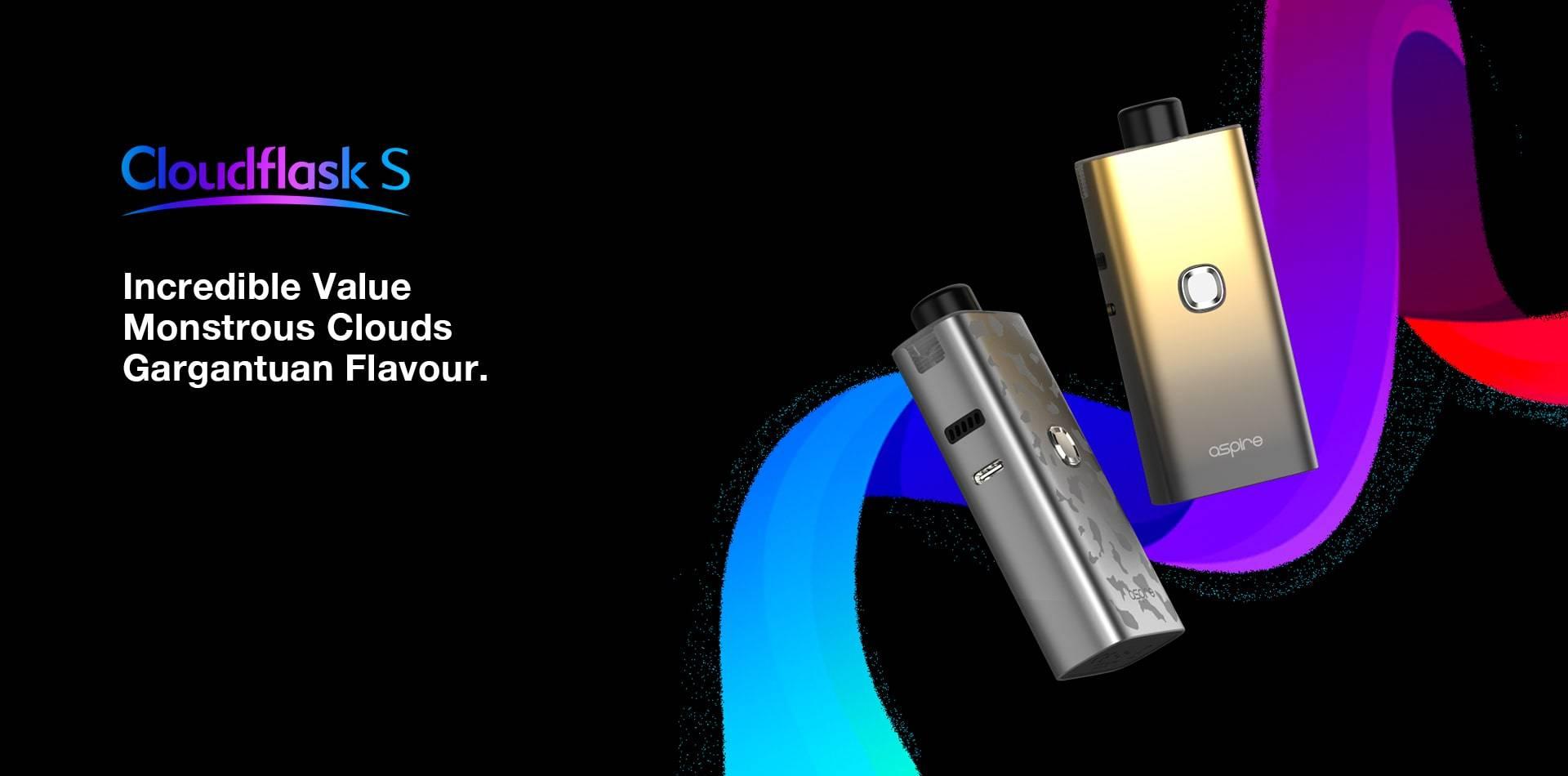 Aspire Cloudflask S - Incredible Value, Monstrous Clouds & Gargantuan Flavour.