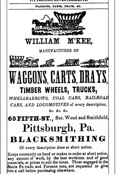 Advertisment for a wagon maker