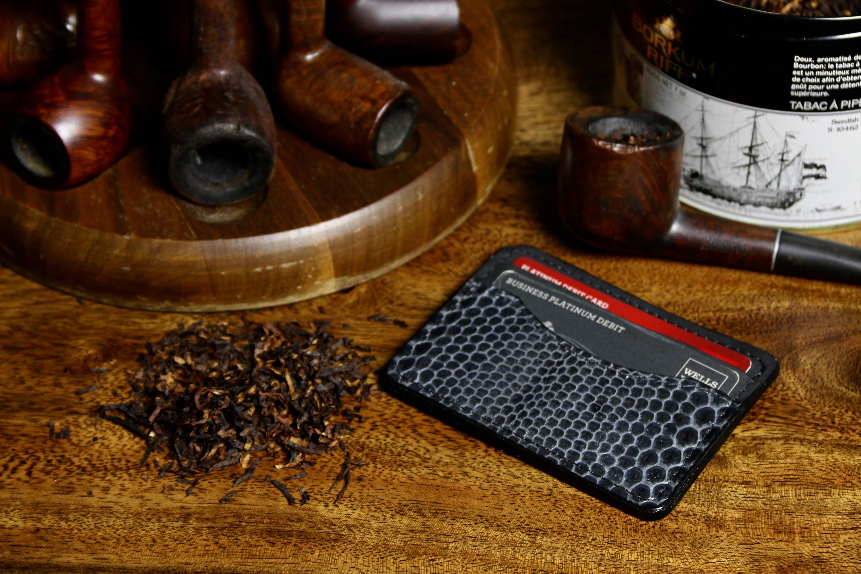 Snake skin leather front pocket wallet
