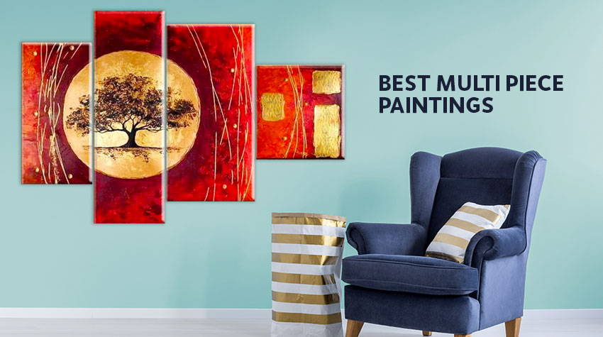 multipiece, split, panel paintings