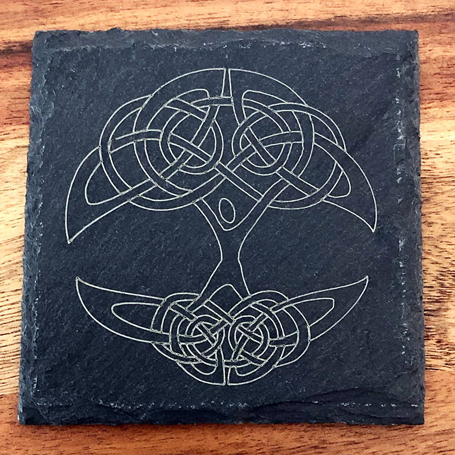 Tree of Life Slate Coaster
