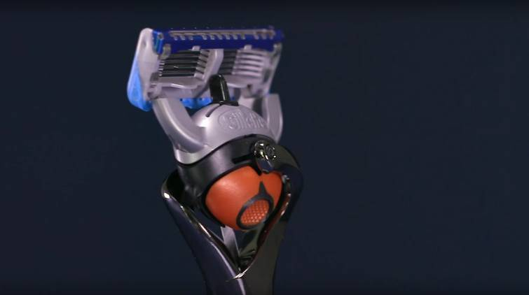 The Gillette fusion5 family of razors has several features that help to prevent shaving nicks and cuts, like a 5-blade cartridge and the front-pivot handle.