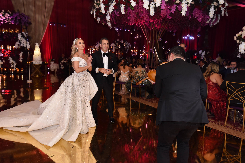 Winter fairytale wedding theme at Fairmont Grand San Diego with Camilla Gabrieli white wedding shoes