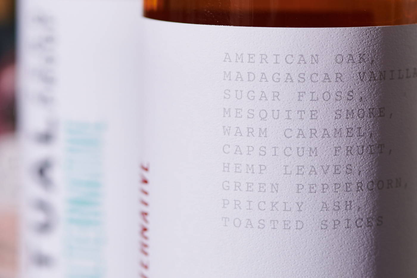 The ingredients in Ritual zero-proof whiskey include American oak, Madagascar vanilla, sugar floss and mesquite smoke.
