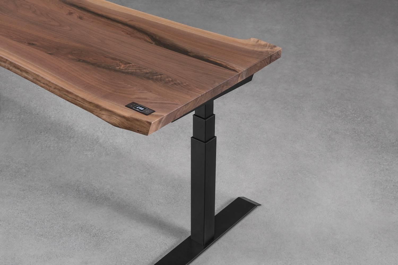 Alive sit-stand desk - walnut
