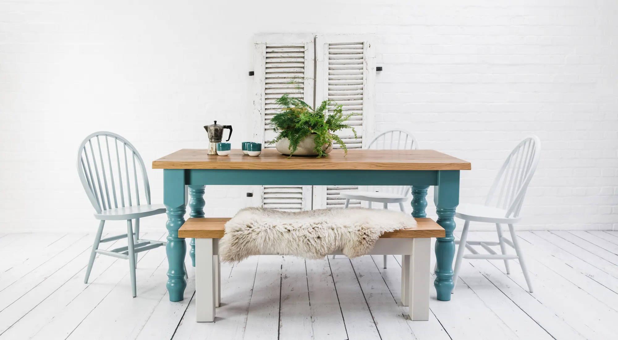 Rustic Oak Farmhouse Table