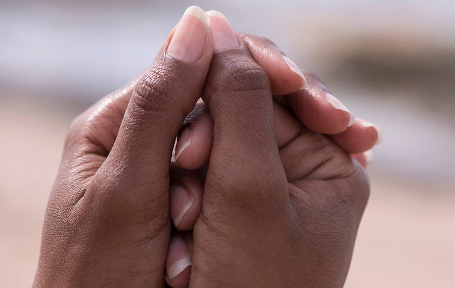 womans hands with strong nails
