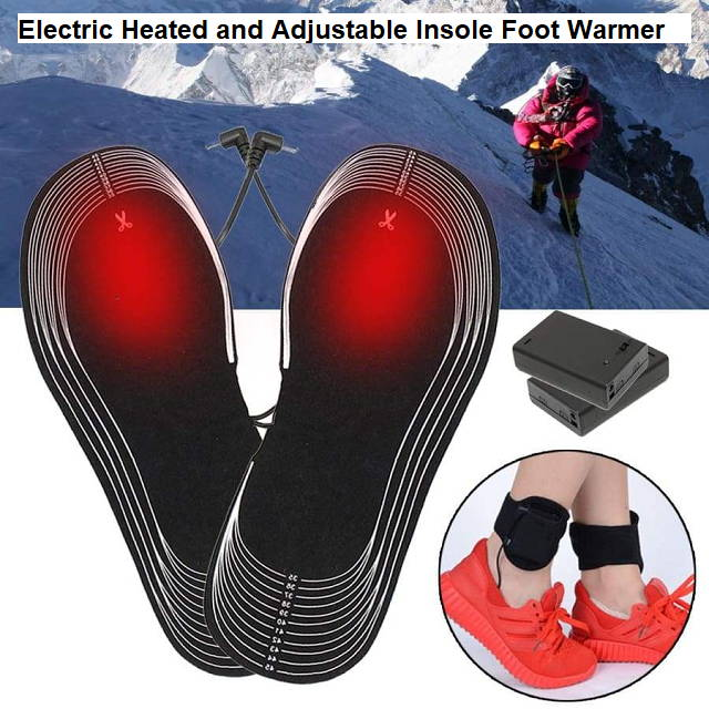 Electric Heated and Adjustable Insole Foot Warmer
