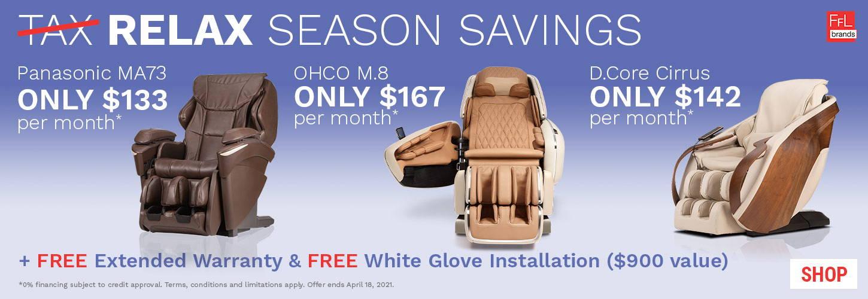 OHCO Massage Chair Sales