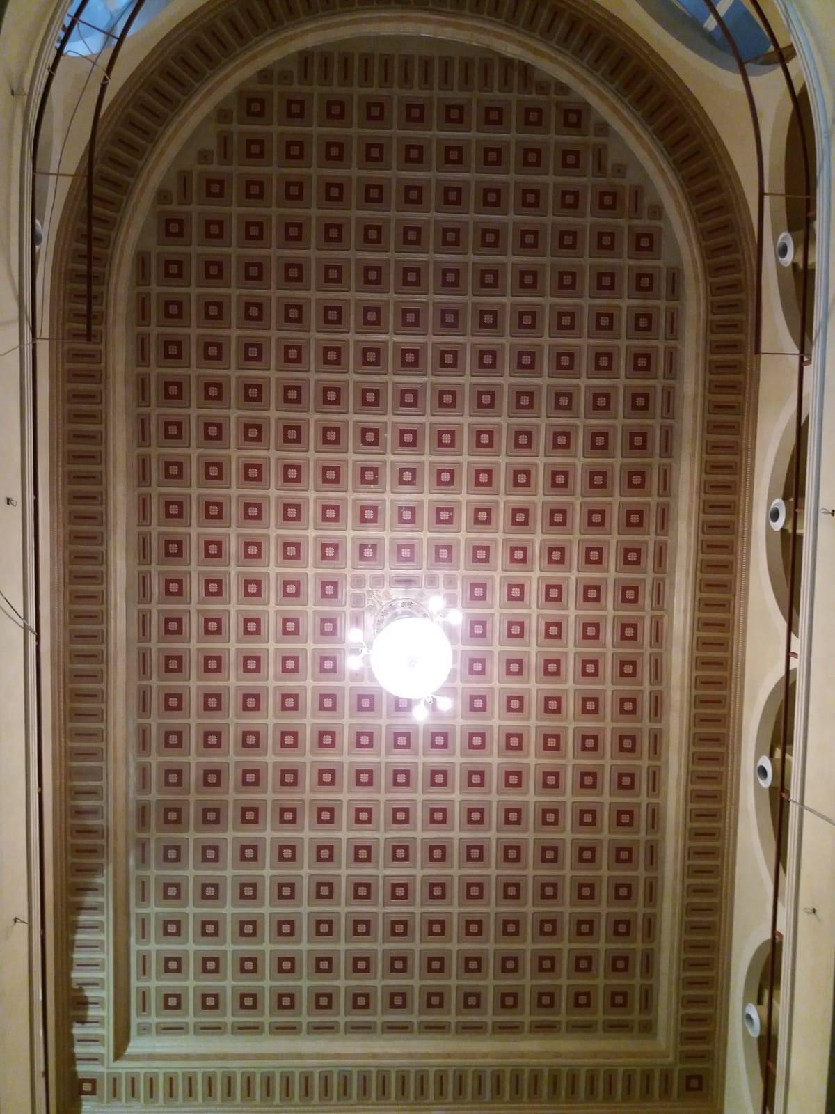 Historic Theatre Teatro Español Ceiling Restoration Montevideo, Uruguay