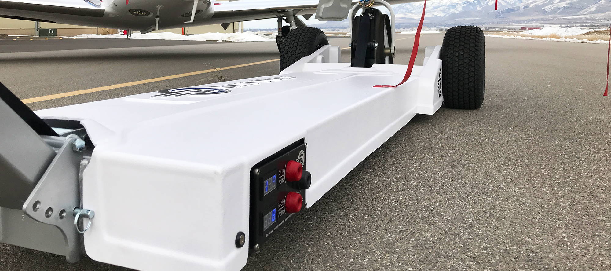 Electric aircraft tug
